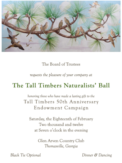 Naturalists' Ball invitation