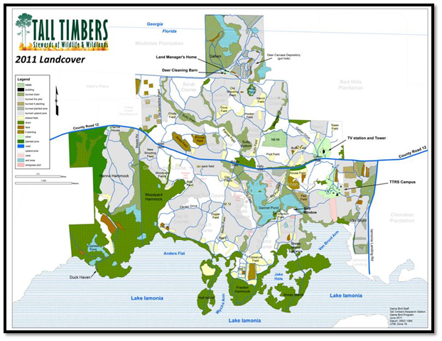 Tall Timbers land-cover map